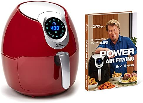Air fryer XL 5.3 Deluxe with Cookbook Power AirFryer XL, 5.3QT, Red