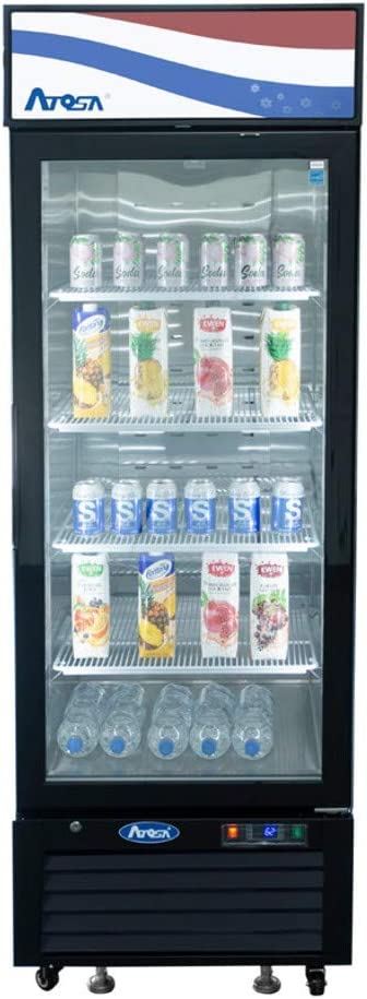 "Atosa MCF8722GR Single Section Refrigerator Merchandiser, 27""W x 31-1/2""D x 81-1/4""H"