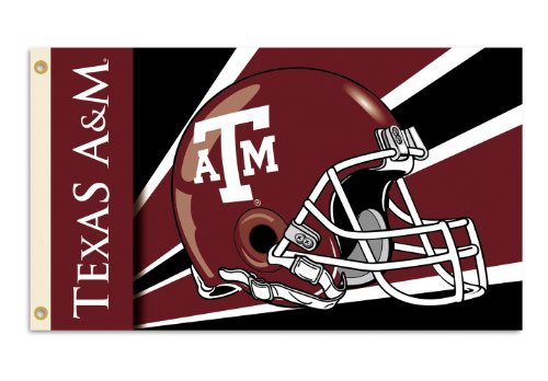NCAA Texas A&M Aggies 3-by-5 Foot Flag with Grommets - Helmet Design