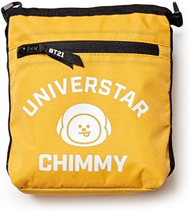 BT21 Official Merchandise by Line Friends – CHIMMY Shoulder Messenger Bag Sacoche Purse, Yellow