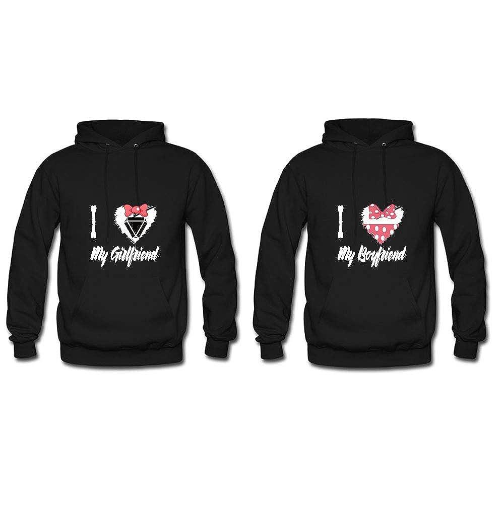 a Set I Heart My Boyfriend Girlfriend Matching Hoodie Pullover His Hers