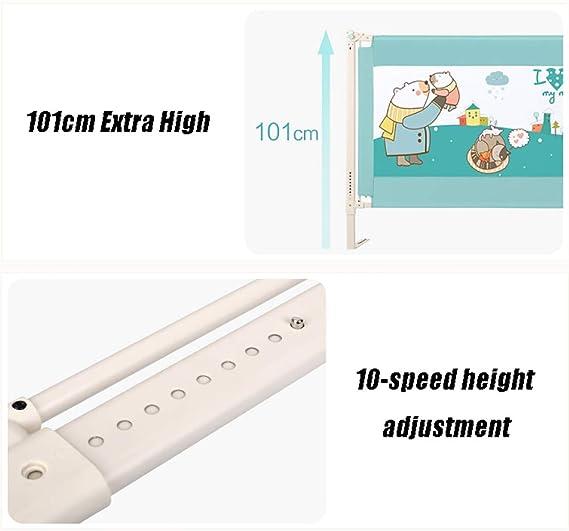 Barrera de Cama, Barra de Seguridad para Cama Alta Safety 101 para niños/niños, Guarda de barandas de Cuna portátil para bebés, elevación Vertical y ...
