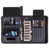 UFire 82 in 1 Precision Screwdriver Set with Magnetic Screwdriver Kit,Repair Tool Kits with Portable Bag for iPad, iPhone, Smartphones, MacBook,Gaming Console,Watches, Tablets, Laptops, PC - Black