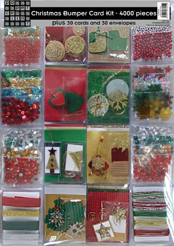 Perfect Bumper Christmas Card Making Kit   4000 Pieces