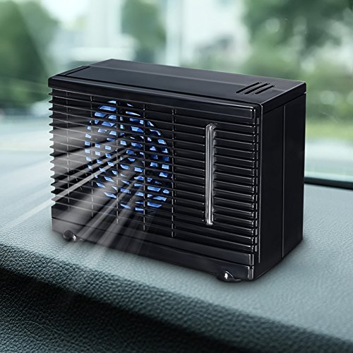 Yutang Mini Air Conditioner, Car Cooling Air Fan 12V Auto Vehicle Van Speed Adjustable Silent Portable Cooler