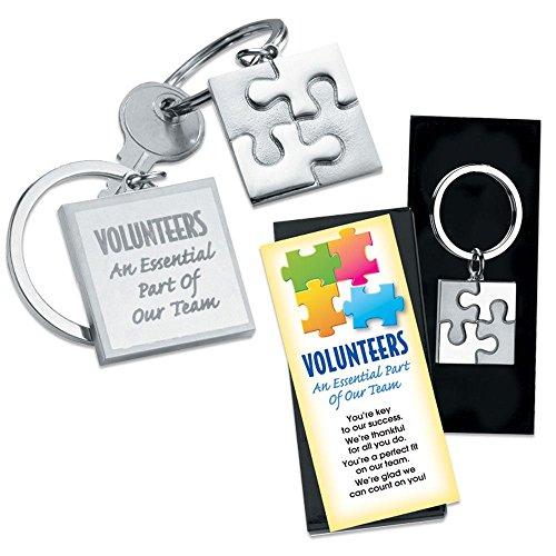Volunteer Appreciation 5 pc. Puzzle Key Tag Gift Set -