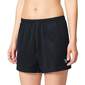 Baleaf Women's Athletic Mesh Shorts Inner Pocket Black Size L