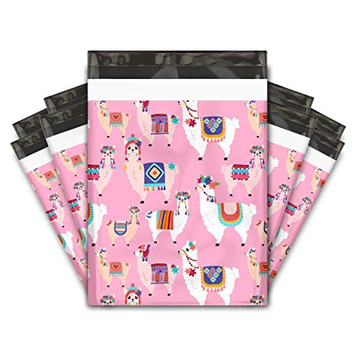 10x13 (100) Lovely Llama Designer Poly Mailers Shipping Envelopes Premium Printed Bags