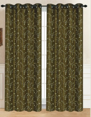 RT Designers Collection Tuscan Window Curtain Panel, 54 by 84-Inch, Olive