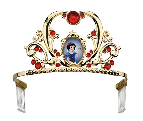 Disguise Deluxe Disney Princess Snow White Tiara, One Size Child, One Color (7 Dwarfs Halloween Costume)