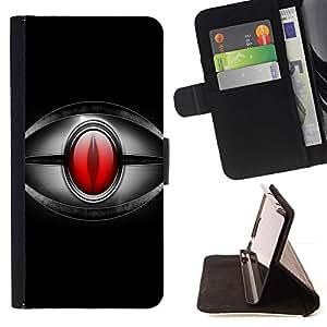 For LG G4 Case , Ojo rojo- la tarjeta de Crédito Slots PU Funda de cuero Monedero caso cubierta de piel