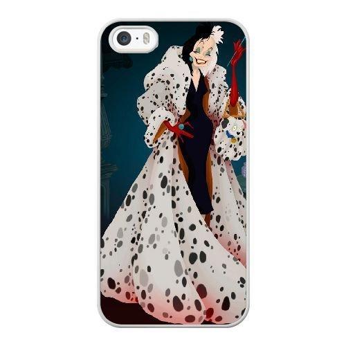 The best gift for Halloween and Christmas iPhone 5 5s Cell Phone Case White Freak badass Cruella de Vil 101 Dalmatians by disney villains VIK9180033