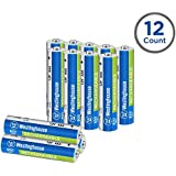 Westinghouse 800mAh NH rechargeable batteries, 5 years low self discharge, 2000 times cycle life, free battery storage box (AAA, 12 counts)
