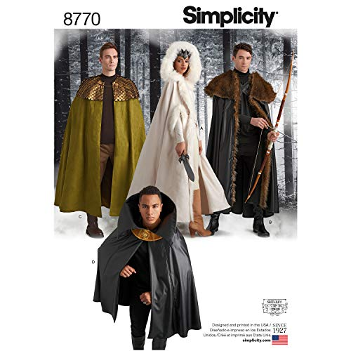 Simplicity Sewing Pattern 8770 Unisex Costume Capes, One Size, by Simplicity Creative Patterns]()