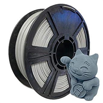 Filamento para impresora 3D PETG gris de 1,75 mm - 2,2 libras / 1 ...