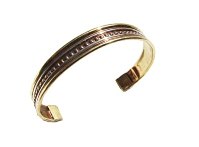 Amazon com: Copper Bracelets Womens Bangle Adjustable India