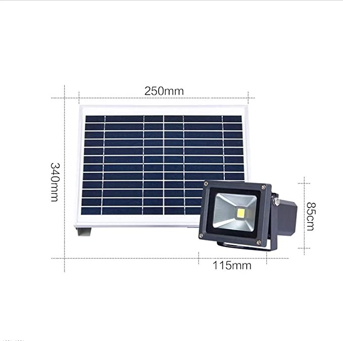 Q-fo Foco Proyectores Solares Patio Exterior, Luz de inundación Solar Súper Brillante Y Eficiente, Iluminación Impermeable para El Hogar Nuevas Luces De Seguridad Rural: Amazon.es: Hogar