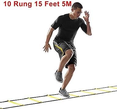 Na 5/8/10 correas de nailon para escaleras, escaleras de agilidad, escaleras de fútbol de alta velocidad, equipo deportivo de entrenamiento, 10-Rung: Amazon.es: Deportes y aire libre