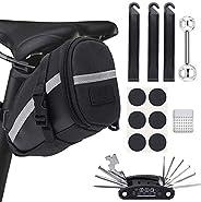 XQL Bike Saddle Bag, Bike Seat Bag Bicycle Saddle Bag Waterproof Bicycle Tool Bag Bike Frame Pouch Cycling Bac