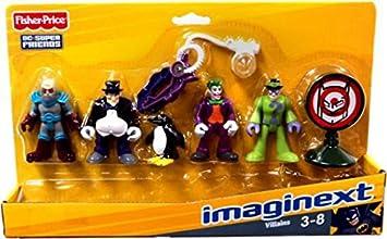 Imaginext Juego de muñecos, de Fisher Price, diseño de los villanos y enemigos de