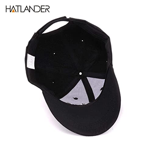 Amazon.com: Hatlander New York Black Baseball caps Las Vegas Adjustable Sports Cap Gorras (Black Las Vegas): Clothing