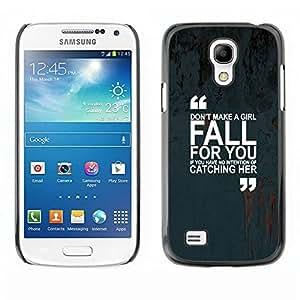 TopCaseStore / la caja del caucho duro de la cubierta de protección de la piel - Quote Marks Text Inspiring - Samsung Galaxy S4 Mini i9190 MINI VERSION!
