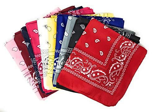50 Bulk Western Neck Bandanas (Assorted) -