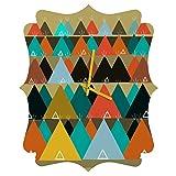 Deny Designs  Brian Buckley, Tipi Mountain, Quatrefoil Clock, Medium