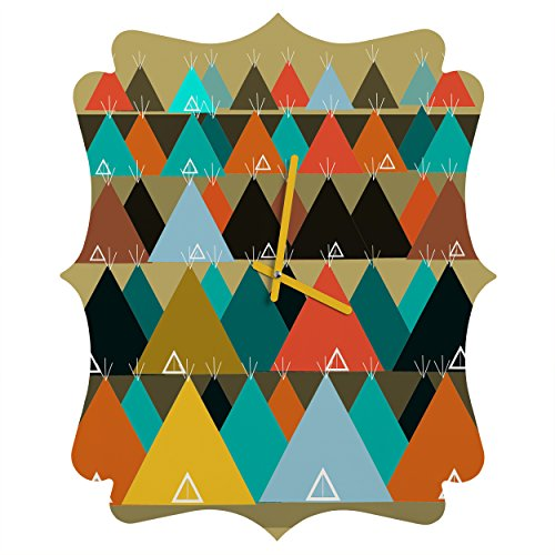 Deny Designs  Brian Buckley, Tipi Mountain, Quatrefoil Clock, Medium by Deny Designs