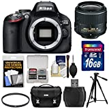 Nikon D5100 Digital SLR Camera & 18-55mm VR II Lens with 16GB Card + Case + Tripod Kit (Certified Refurbished)