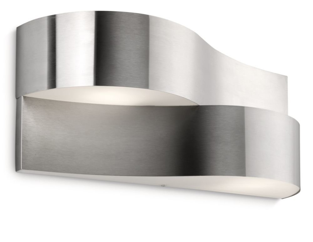 Plafoniere Rosse Da Esterno : Philips oriole lampada da parete per esterno ondulata acciaio inox