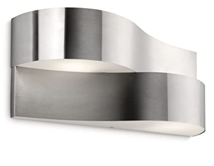 Lampade Da Parete Per Esterni : Philips oriole lampada da parete per esterno ondulata acciaio inox
