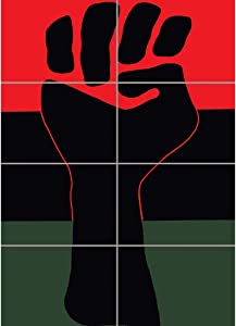 Doppelganger33 LTD Propaganda Political Civil Rights Black Power Fist African USA Wall Art Multi Panel Poster Print 33x47 inches