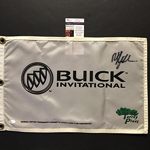 Autographed/Signed Phil Mickelson Buick Invitational PGA Championship Torrey Pines Course Golf Flag/Pin JSA COA -