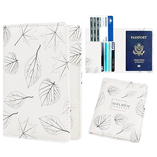 1 Sketch Card (WALNEW Passport Holder Cover Case Travelling Passport Cards Carrier Wallet Case (B-Black Sketch))