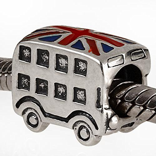 London Taxi Charm / Bus Charm 925 Sterling Silver Beads Travel Charm fit Pandora Bracelets (Bus) by MEETCCY charm (Image #2)