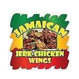 Jamaican Jerk Chicken Wings Concession Restaurant Food Truck Die-Cut Vinyl Sticker 24 inches