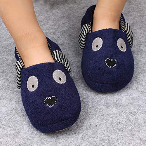 Pictures of Estamico Toddler Boys Doggy Slippers Cartoon Puppy 6