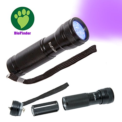 (BioFinder The UV LED Flashlight. Super Awesome Pet Urine Detector! Find Pet Stains, Hunt Scorpions, Check for Counterfeit Money & More.)
