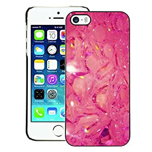 A-type Arte & diseño plástico duro Fundas Cover Cubre Hard Case Cover para iPhone 5 / 5S (Pink Glitter Mystical Abstract Pattern)