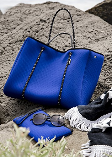 Large Neoprene Beach Tote Bag - Multipurpose with Matching Purse Inner Pocket by Handloom Homewares (Image #2)