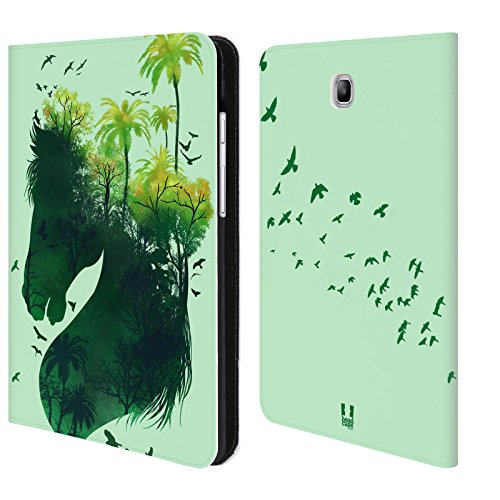 Wildlife Silhouette Design - Head Case Designs Horse Wildlife Silhouette Leather Book Wallet Case Cover for Samsung Galaxy Tab A 8.0
