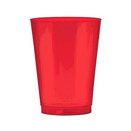 Paquete De 50 Tazas De Fiesta Americano Rojo 16oz Tazas desechables fiesta