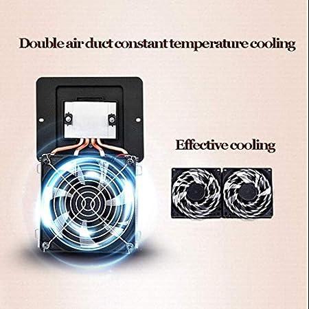 YFGQBCP 24 Botella termoeléctrica rojo y negro del refrigerador de vino, un funcionamiento silencioso termoeléctrica Vino Frigorífico independiente Mostrador Bodega Frigorífico - Temperatura Zona Dobl