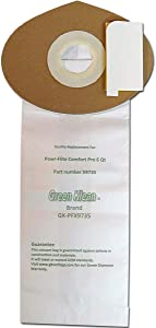 Green Klean GK-PFX9735-6 Qrt 6 qt. Powr Flite Comfort Pro Backpack Closed Collar Replacement Vacuum Bags - Pack of 100