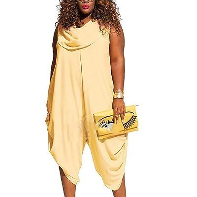 Andopa Mono Sexy para Mujer, Color sólido, tamaño Grande: Ropa y accesorios