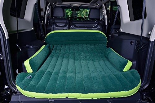 DRIVE TRAVEL SUV Air Mattress Camping Bed,Outdoor SUV Dedicated Mobile Cushion Extended Travel Mattress Air Bed Inflatable for SUV Back Seat,Swimming Sea Beach,Holiday,Fit 95%SUV (Green 70.9''×50'') by DRIVE TRAVEL