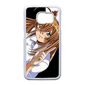 Ikkitousen Dragón Destino Chica Rubia Gesto enfermera 40827 Samsung Galaxy S6 Edge caja del teléfono celular funda blanca del teléfono celular Funda Cubierta EEECBCAAK70265