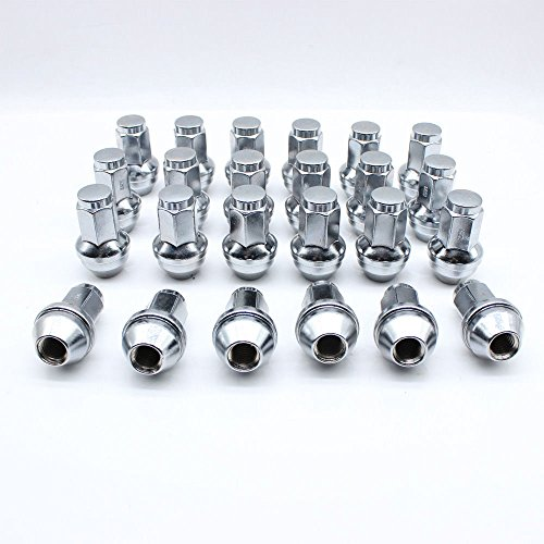 Exposed Lug Nuts - TFCFL 24x for 04-14 Ford F150 Expedition Polished Stainless Steel 14x2 Lug Nuts