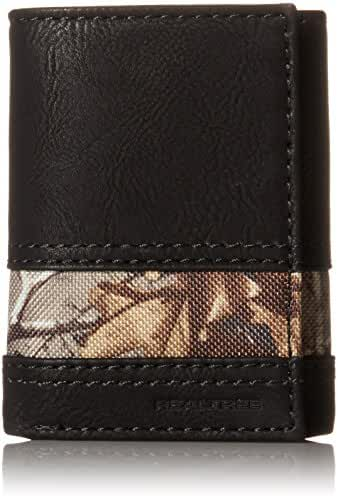 Real Tree Men's Trifold Wallet with Camo Inlay
